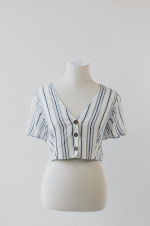 Bella Top - Off White Navy