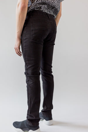 Jay Distressed Denim - Slim Black