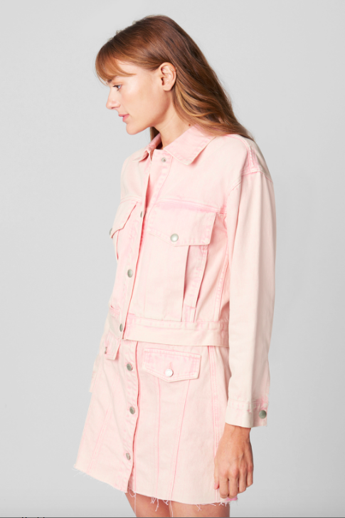 Tutti Frutti Denim Jacket - Pink
