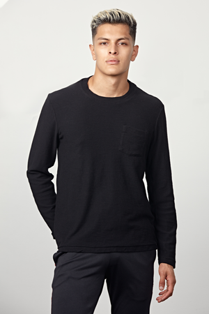 Mercy & Loyal LS Nico Slub Tee - Black