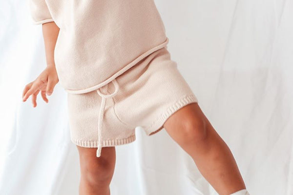 Knit Shorts | Seashell