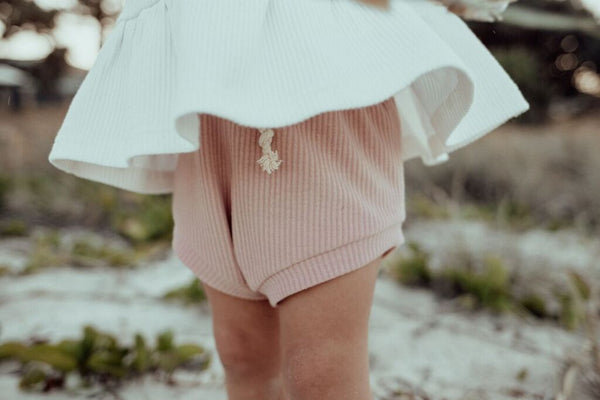 Ribbed Shorties | Dusty Rose