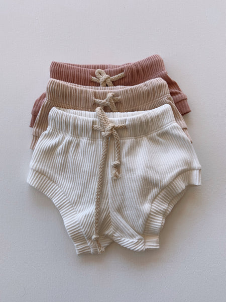 Ribbed Shorties | Coconut