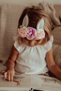Easter Bunny Ears | Peach & Purple