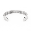 """I am the storm"" Silver-plated Bracelet 