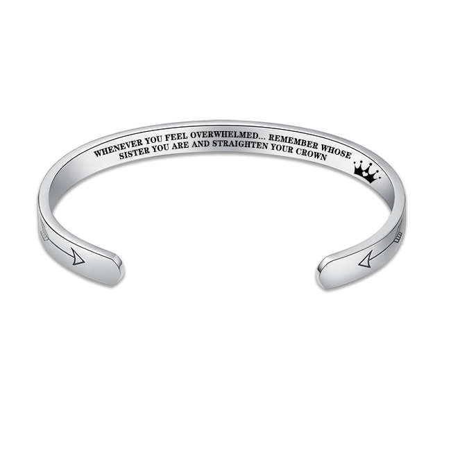 """Remember...You Are and Straighten Your Crown"" Bracelet"