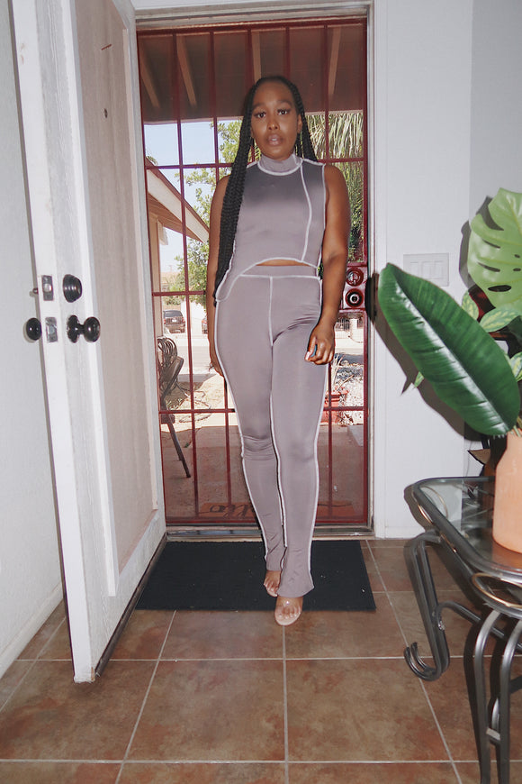 Gray Two Piece