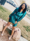 Green Metallic Dress