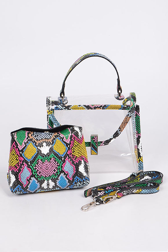 Muti-Color  Snake Bag