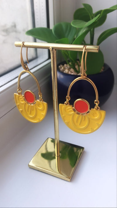 Pendientes Honey Nymphaea Lotus
