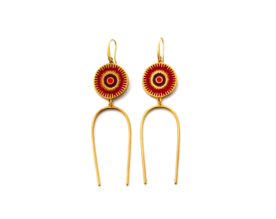Red Deity Earrings