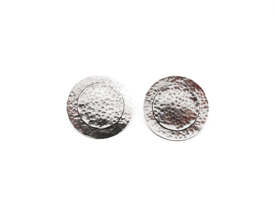 Silver Arena Earrings
