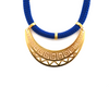 Blue Athena Necklace Gold