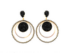 BLACK ALECTRONA EARRINGS