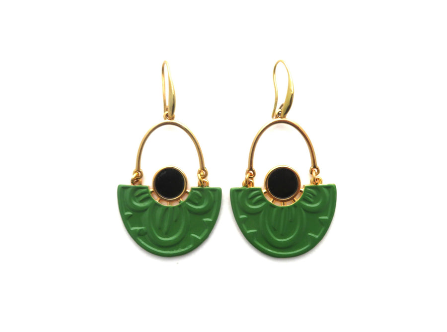 PEAR NYMPHAEA LOTUS EARRINGS