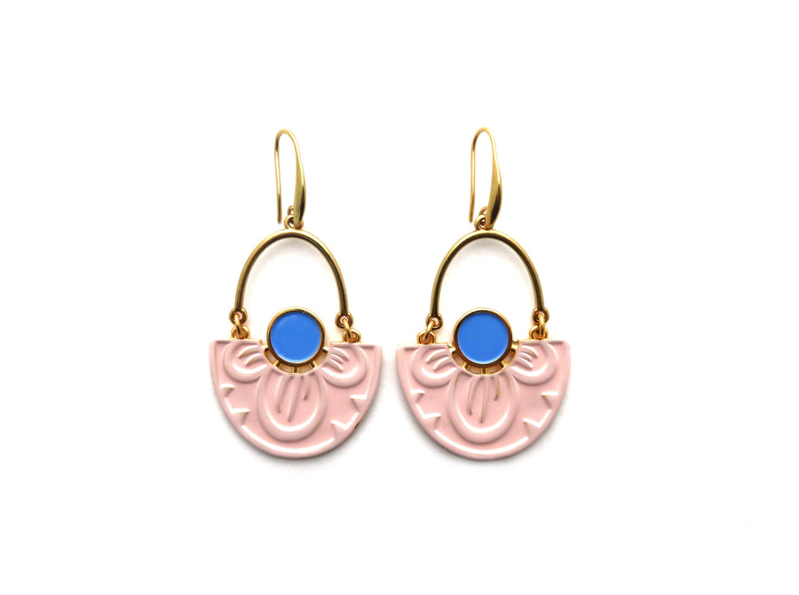 PINK NYMPHAEA LOTUS EARRINGS