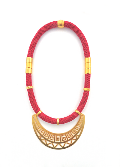 Burgundy Athena Necklace