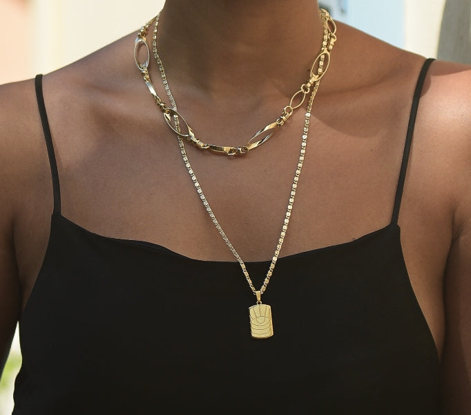 Gold Venus Chain Necklace