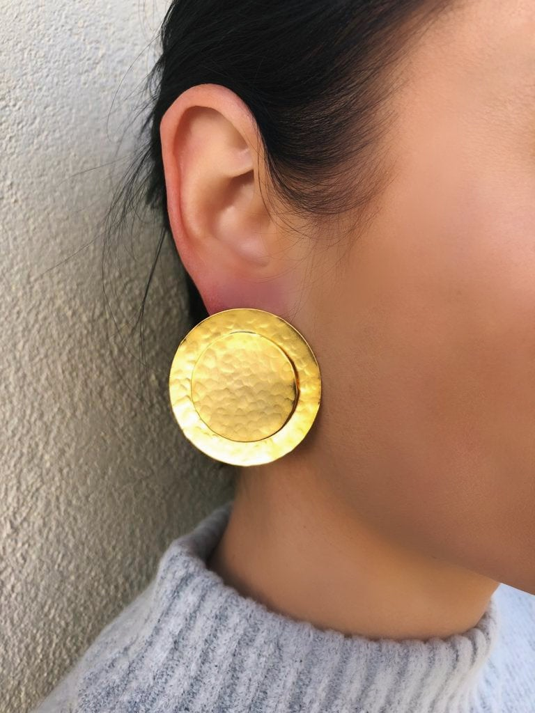Gold Arena earrings