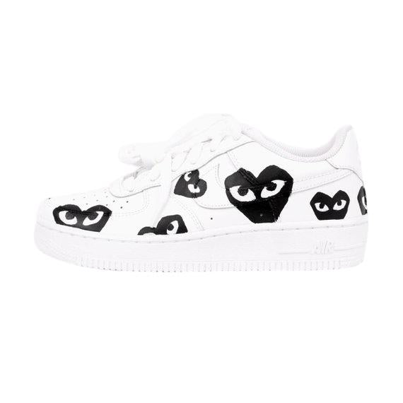 Nike Air Force 1- Custom- Cdg's - DANDY CUSTOM SHOP