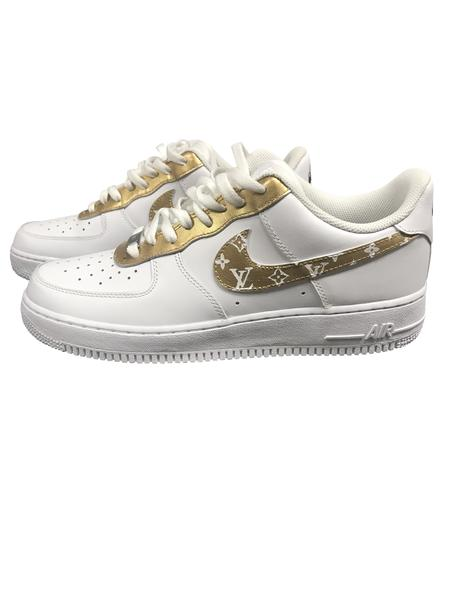 Nike Air Force 1- Custom- LV Gold - DANDY CUSTOM SHOP