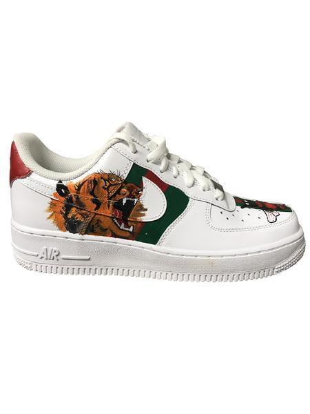 Nike Air Force 1- Custom- Tiger & Snake - DANDY CUSTOM SHOP