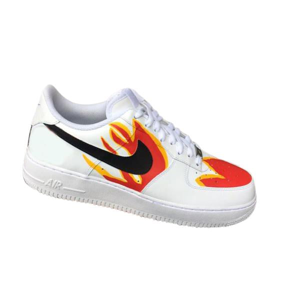 Nike Air Force 1- Custom- Fire - DANDY CUSTOM SHOP