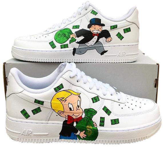 Nike Air Force 1- Custom- Monopoly - DANDY CUSTOM SHOP