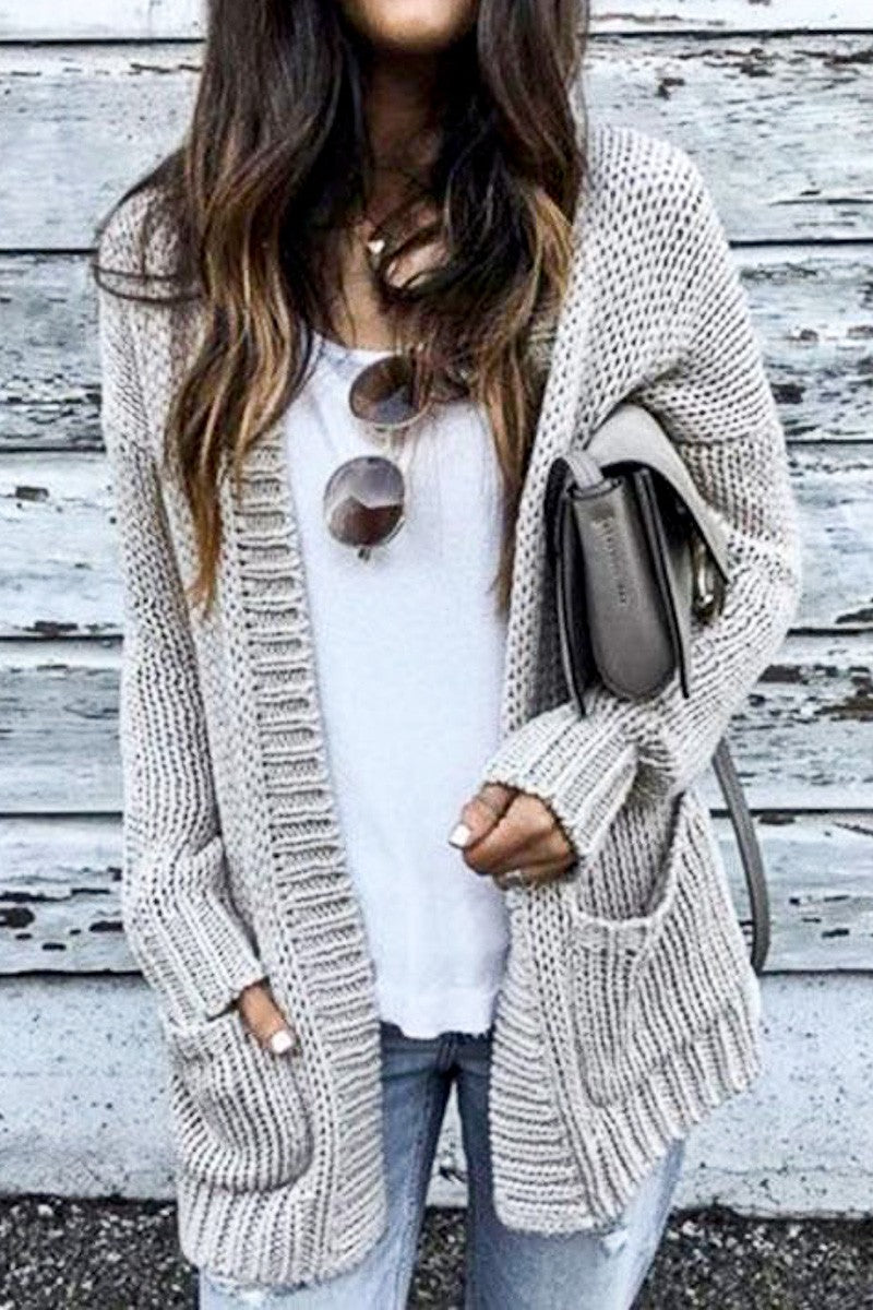 Love You Latte Pocket Knit Cardigan