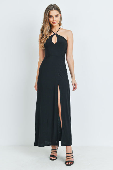 Hot Halter Black Dress