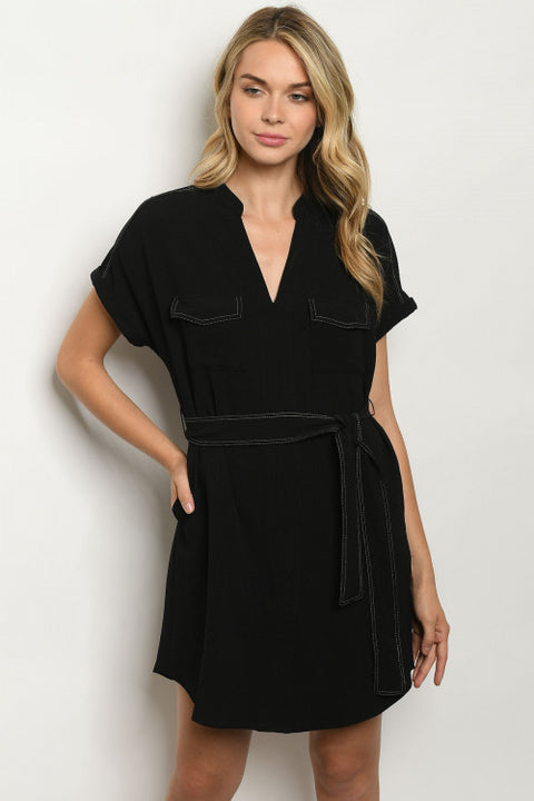 All Day Shirtdress in Black