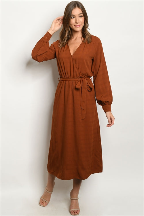 Swoon For Middy Rust Dress