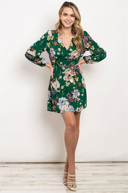 Green with Flower Dress