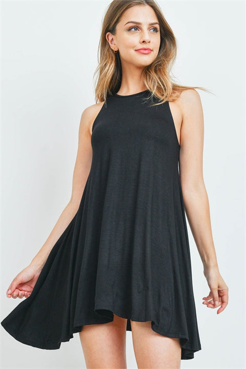 Best In Black A Line Dress