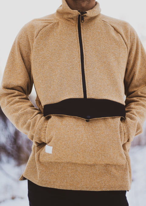 The Bridgeport Half Zip Desert Camel