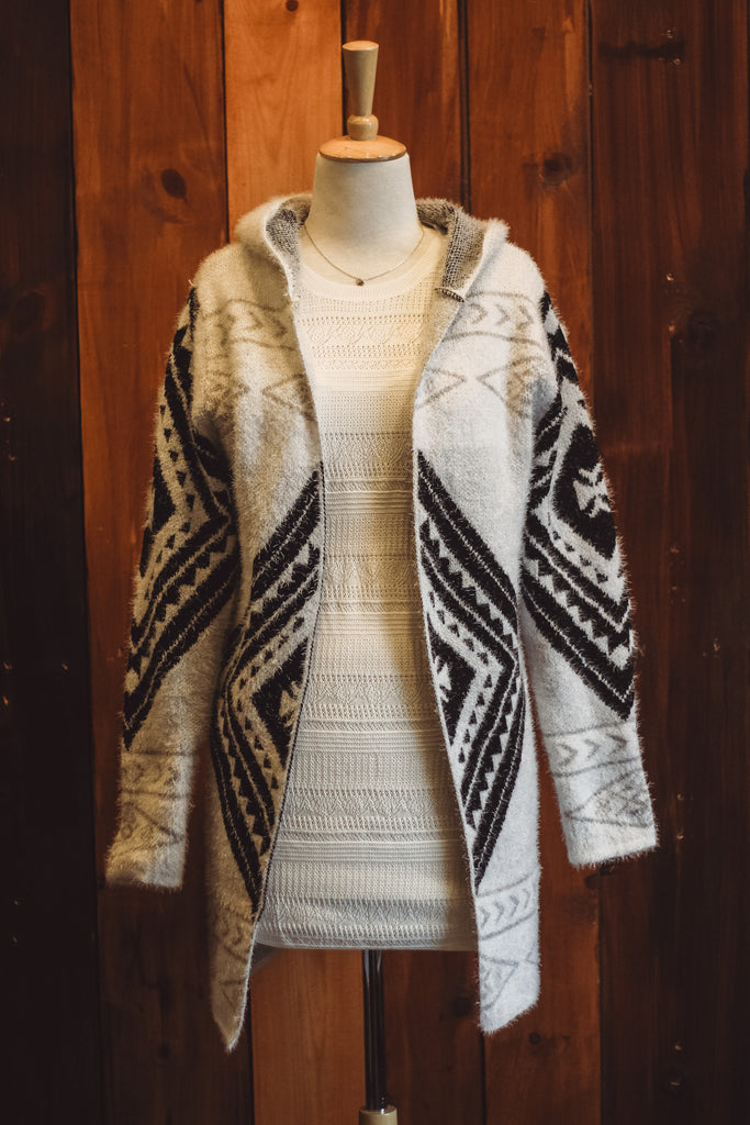 Black/White Cardigan