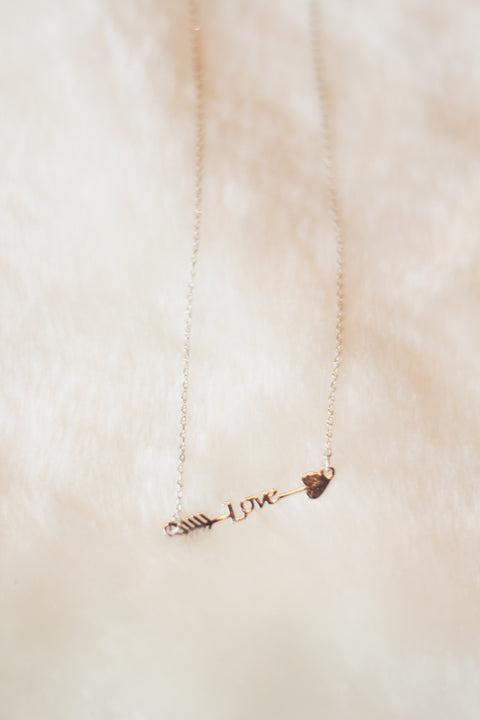 Arrow Love Necklace Silver