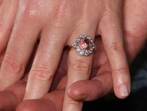 Princess Eugenie's Pink sapphire engagement ring