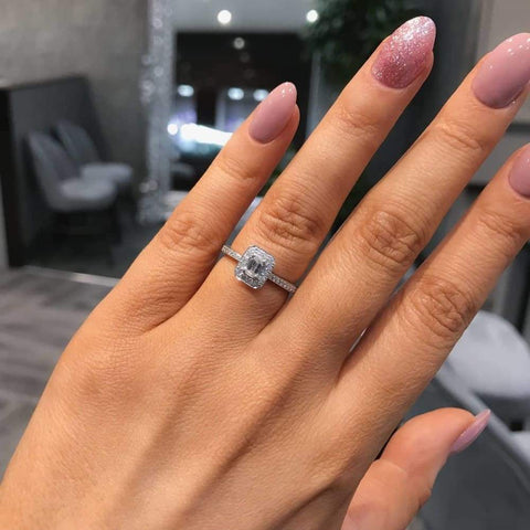 CASEY Emerald Cut Engagement Ring