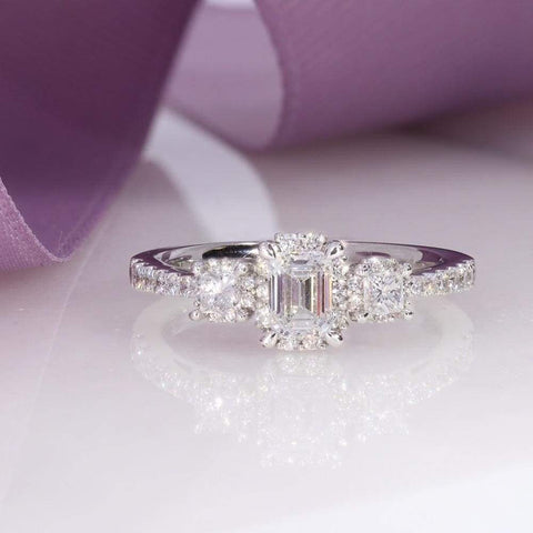 Countess Emerald Cut Engagement Ring