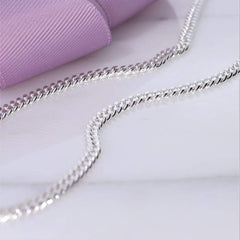 Silver Curb Chain for men