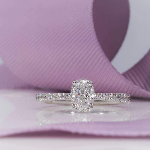 FRANKLIN Oval Engagement Ring