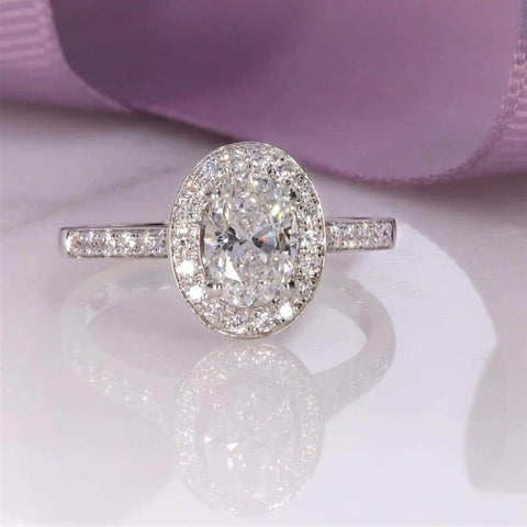 Harvard Oval Engagement Ring