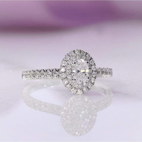 HOLLY Oval Engagement Ring