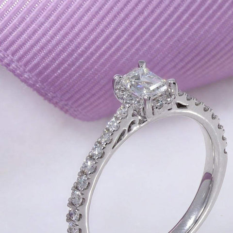 Kennedy Emerald Cut Engagement Ring