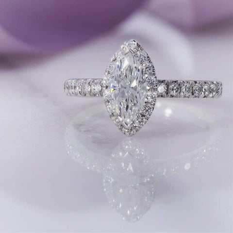 Leah Marquise Cut Engagement Ring