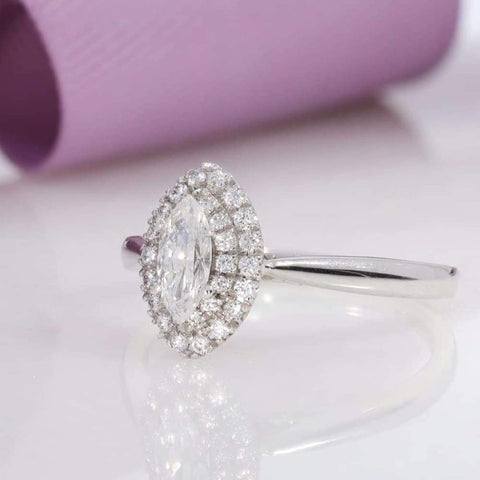 LIBRA Marquise Cut Engagement Ring