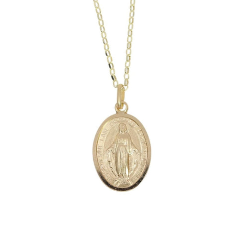 Miraculous Medal (Large) in 9ct Gold