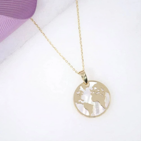 Earth Necklace in 9ct Gold