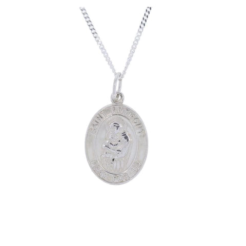 Oval St. Anthony Medal in Sterling Silver